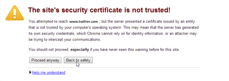 Как исправить ошибку The site's security certificate is not trusted?