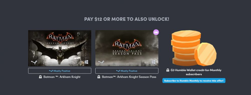 На Humble Bundle раздают Batman: Arkham Origins и Shadow of Mordor за доллар